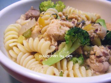 手作り食-鮭と鶏肉のフジッリ-